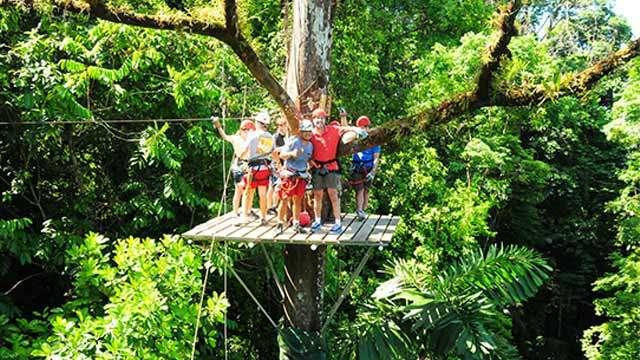 Ziplining in Tamarindo