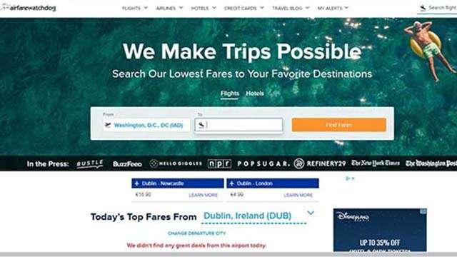 airfarewatchdog website
