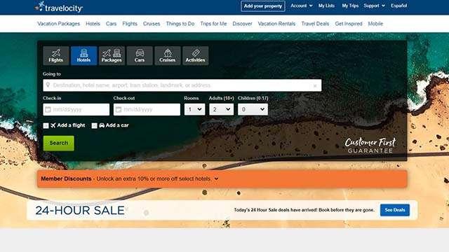 travelocity website