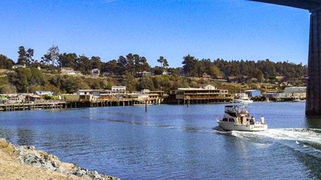 Noyo Harbor on the Mendocino Coast, CA