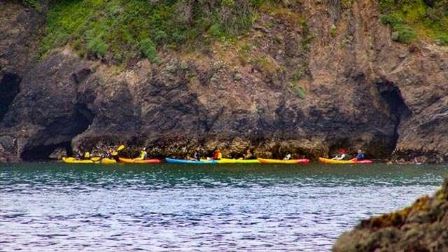 Kayak Sea Caves on the Mendocino Coast