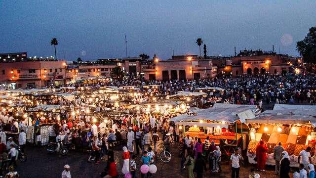 Jemma el-Fna at night