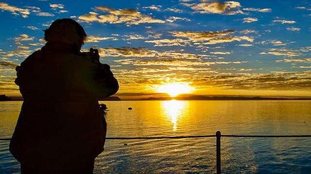 Sunrise over Lake Titicaca, Peru