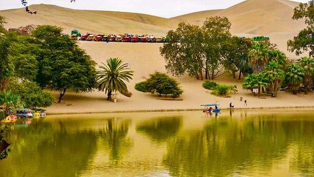Desert oasis of Huacachina, Peru