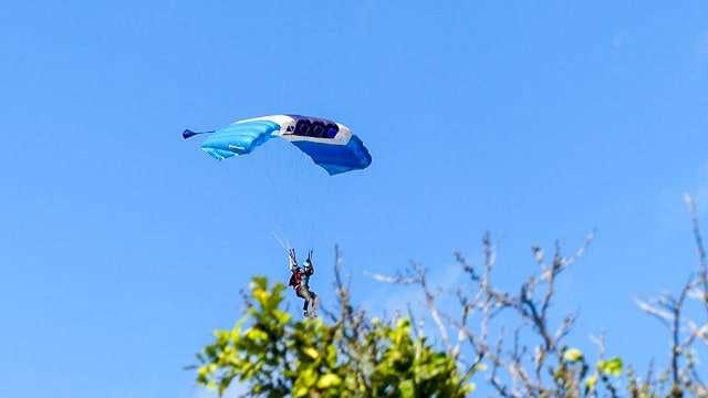 Skydiver at DeLand Airport