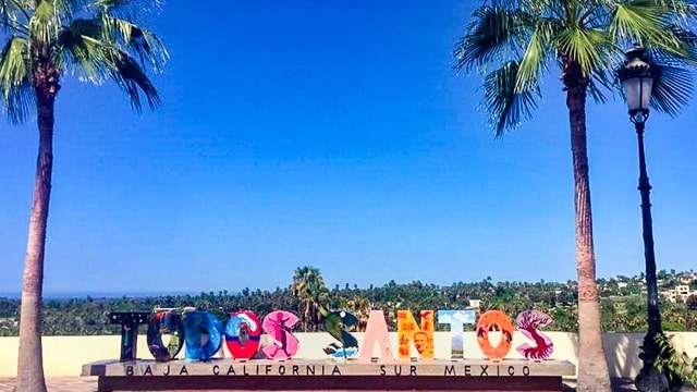 Todos Santos sign