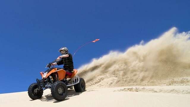 ATV in desert