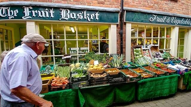 Ludlow green-grocer, Shropshire Hills