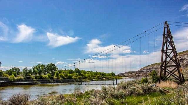 Star Mine Suspension Bridge - Drumheller