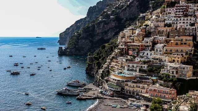 View of Positano, Amalfi Coast Italy