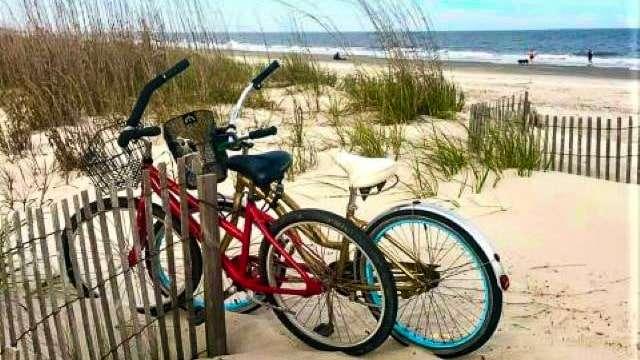 Biking to the Beach on Hilton Head Island