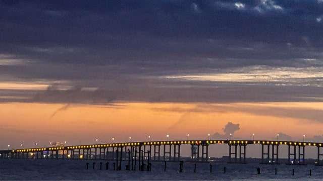 Biloxi Bay Bridge from Front Beach
