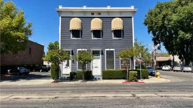 Historic building & tracks - Visalia, CA