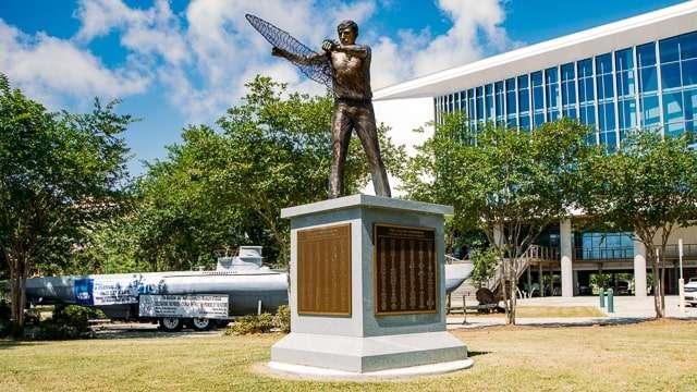 Golden Fisherman statue - Biloxi MS