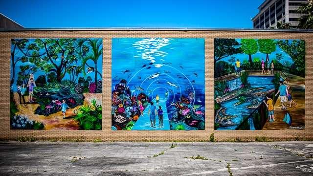 Aquatic Wonders Mural- Gulfport MS