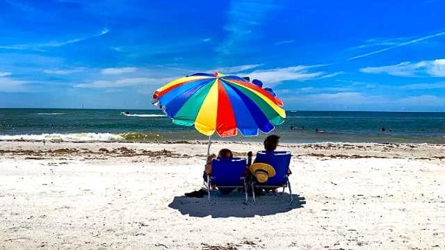 Sunbathing on a Florida Beach