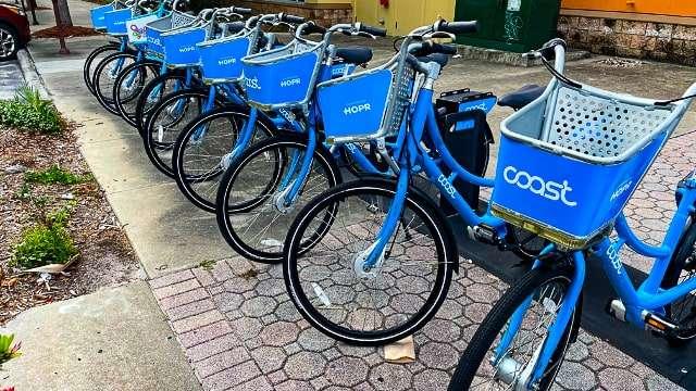 Coast Bike Share bikes