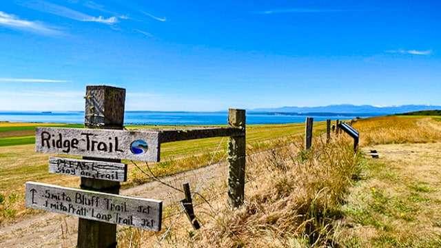 Hiking Ridge Trail - Whidbey Island WA