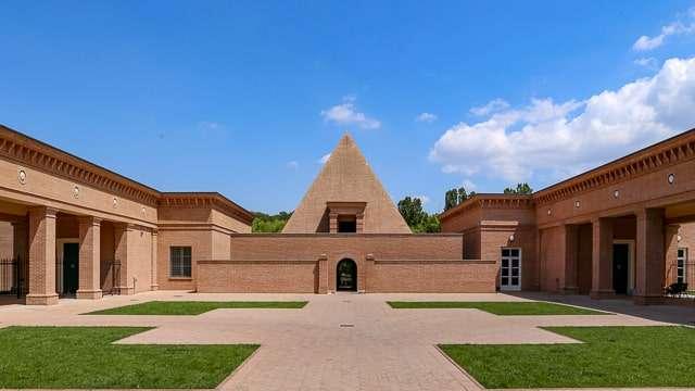 Masone Labyrinth pyramid-shaped chapel