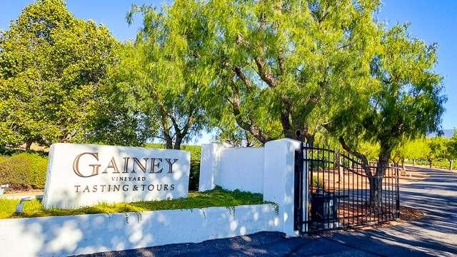 Gainey Winery Entrance - Santa Ynez Valley CA