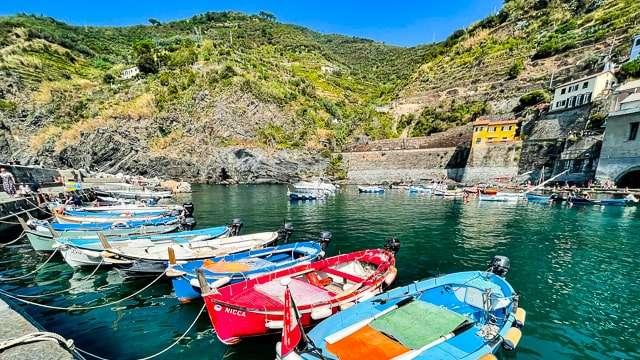 Boats near Vernazza